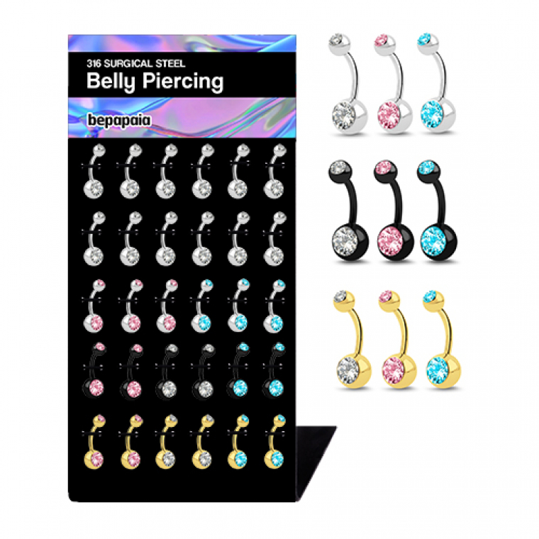 Piercings per l'ombelico con brillanti